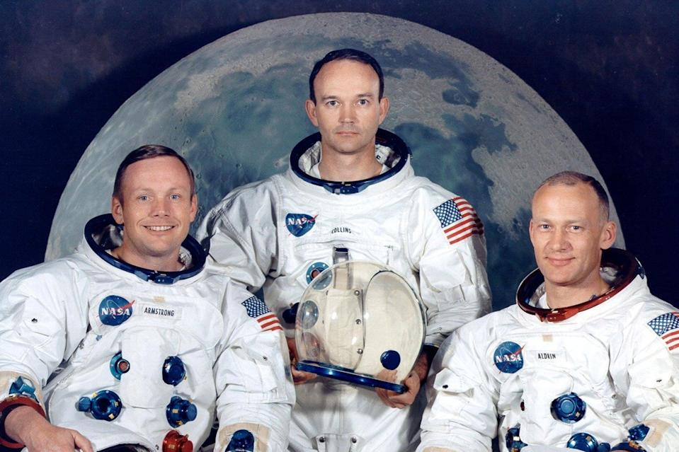 From left: Neil Armstrong, Michael Collins, and Edwin Aldrin in July 1969 (REUTERS)