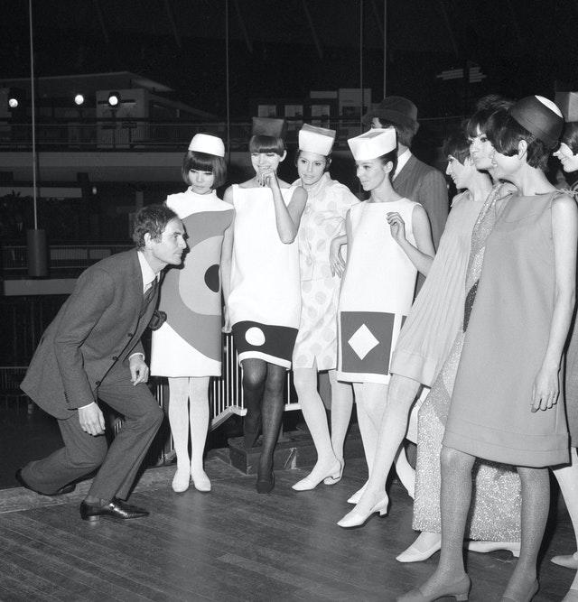 Pierre Cardin and models