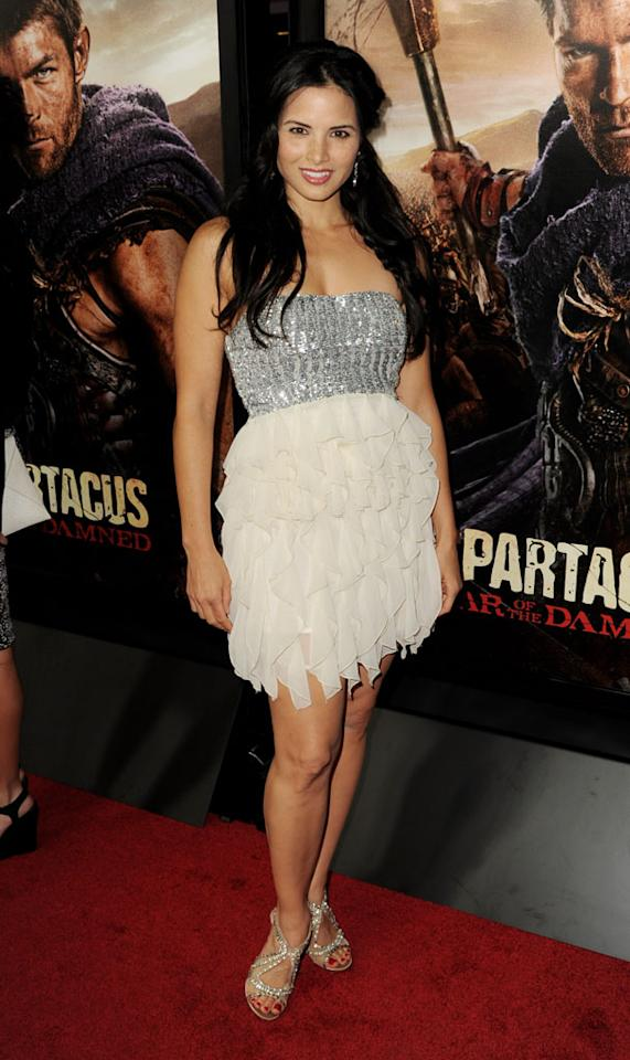 "Katrina Law attends the premiere of Starz's ""Spartacus: War of the Damned"" at Regal Cinemas L.A. Live on January 22, 2013 in Los Angeles, California."