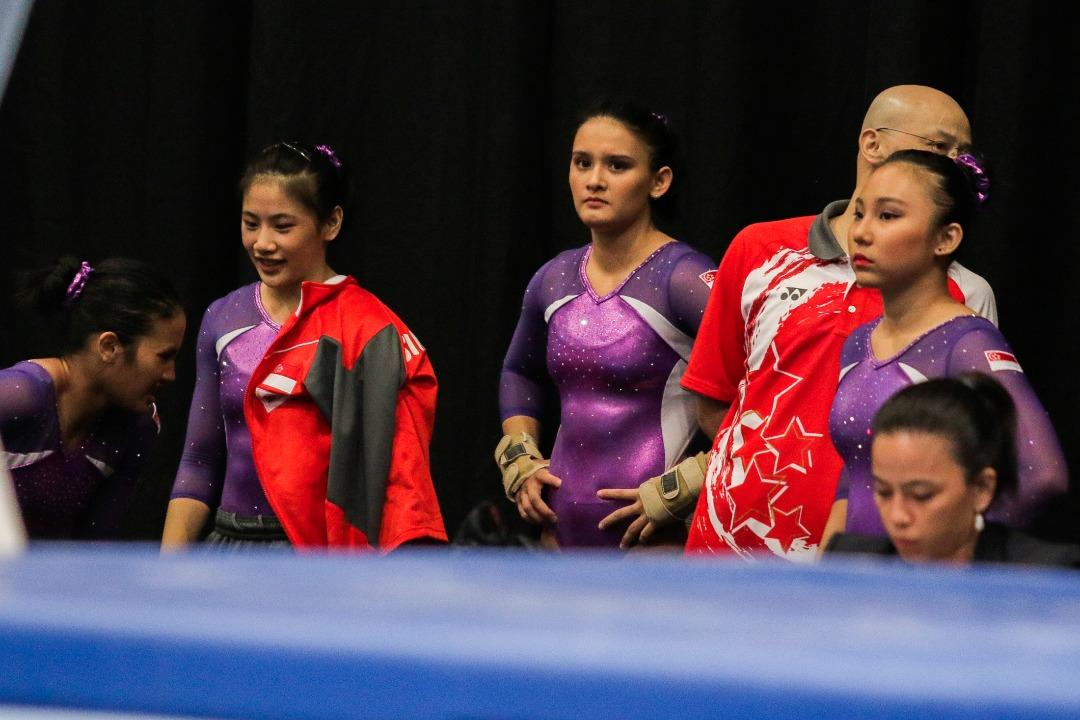 <p>Despite losing one member to injury less than a week before the start of the SEA Games, the Singapore women's artistic gymnastics team retained their silver medal and Indonesia won the bronze. Photo: Fadza Ishak/Yahoo News </p>