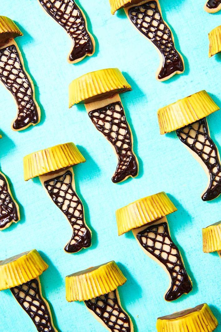 """<p>Never watch <em>A Christmas Story </em>without these festive cookies again.</p><p>Get the recipe from <a href=""""https://www.delish.com/cooking/recipe-ideas/a50435/leg-lamp-cookies-recipe/"""" rel=""""nofollow noopener"""" target=""""_blank"""" data-ylk=""""slk:Delish"""" class=""""link rapid-noclick-resp"""">Delish</a>. </p>"""