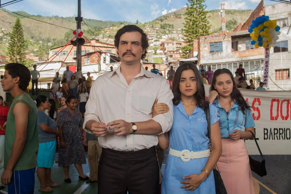 "<p>If you haven't yet seen <strong>Narcos </strong>and immediately connected to Lupin's central ""Robinhood"" dynamic, you should probably give it a try (worst-case scenario, you'll just listen to the incredible bop of a theme song). Centered on the life of Pablo Escobar, told through the lens of American DEA special agents, the series is inquisitive and deeply interesting, offering a perspective into the infamous drug lord's story. Escobar was a criminal who many people loved, and although Diop can't exactly be compared to him, the gentleman thief's complexities (doting father, necklace burglar, diamond gifter) make for similarly incredible TV. </p> <p> <a href=""https://www.netflix.com/watch/80025172?source=35"" class=""link rapid-noclick-resp"" rel=""nofollow noopener"" target=""_blank"" data-ylk=""slk:Watch Narcos on Netflix."">Watch <strong>Narcos</strong> on Netflix.</a></p>"