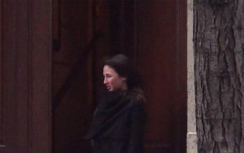 A woman believed to be the daughter of the former leader of Australia was seen leaving Jeffrey Epstein's house - Credit: Mail on Sunday