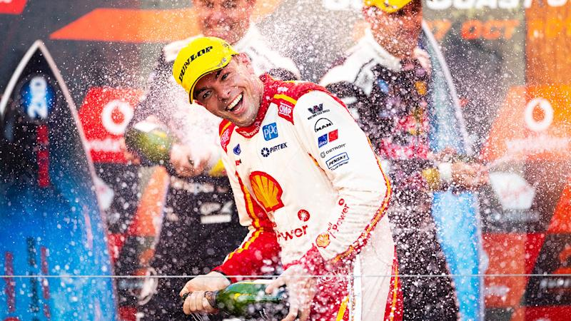 Seen here, Scott McLaughlin claimed back-to-back Supercars titles in 2019.