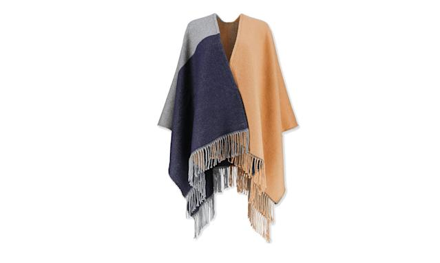 "<p>Women's colorblock two-way stole, $15, <a href=""https://www.uniqlo.com/us/en/women-colorblock-2-way-stole-400759.html?dwvar_400759_color=COL32"" rel=""nofollow noopener"" target=""_blank"" data-ylk=""slk:uniqlo.com"" class=""link rapid-noclick-resp"">uniqlo.com</a> </p>"