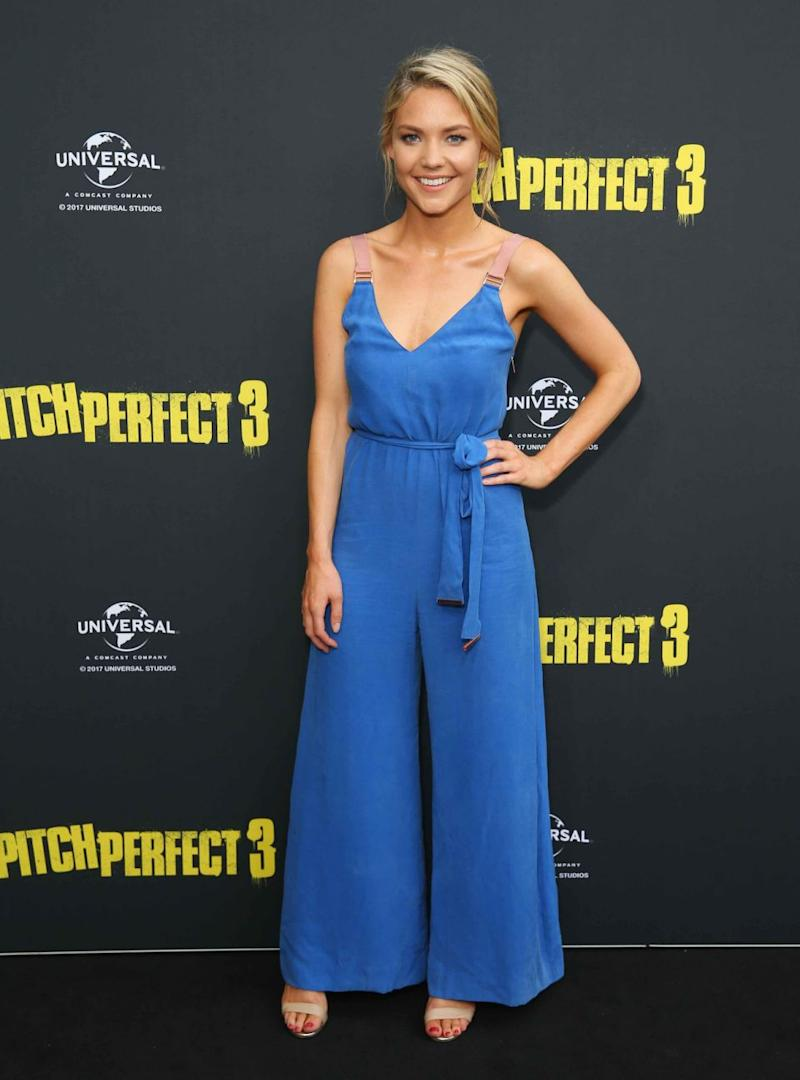 Sam Frost gushed about her new role on Home and Away to Be at the Pitch Perfect 3 premiere. Source: Getty