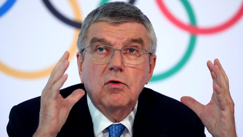IOC President Bach attends a conference