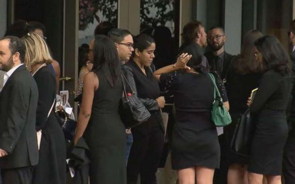 PHOTO: Mourners gather at a memorial service Saturday, Sept. 22, 2018, in Washington, D.C., for Wendy Martinez, who was stabbed to death while jogging. (WJLA)