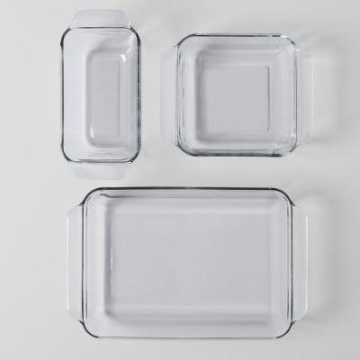 <p>The <span>Made by Design 3 Piece Glass Bakeware Set</span> ($15) is a classic for baking enthusiasts. </p>