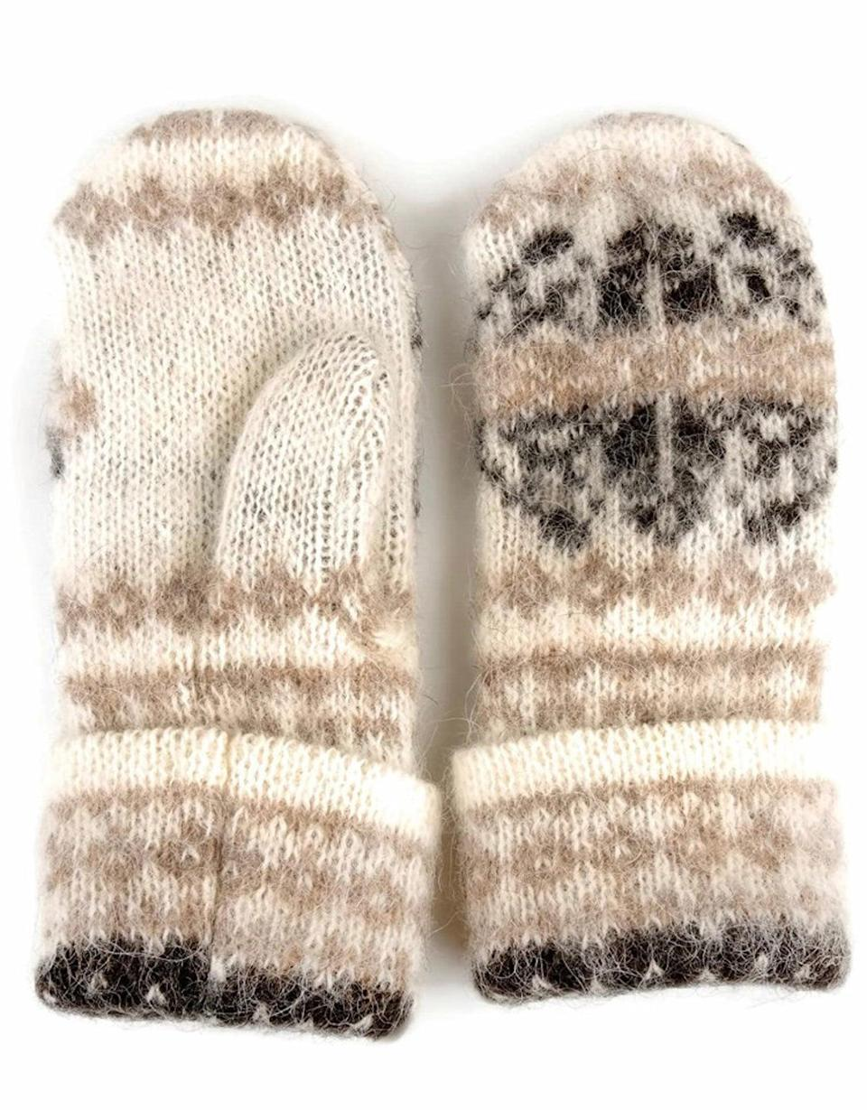 <p>Soft, cozy, and just like Bernie's, these <span>Bernie Sanders Homemade Knit Mittens</span> ($86) are a must have.</p>