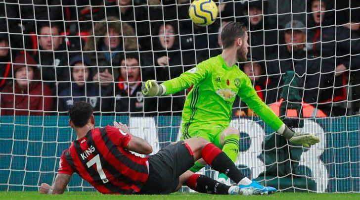 Bournemouth's Joshua King scores their first goal. (Source: Reuters)