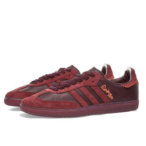 "<p><a class=""link rapid-noclick-resp"" href=""https://www.endclothing.com/gb/adidas-x-jonah-hill-samba-fw7456.html"" rel=""nofollow noopener"" target=""_blank"" data-ylk=""slk:SHOP"">SHOP</a></p><p>Jonah Hill's take on the Adidas Samba keeps all the classic touches of the marquee sneak, but still manages to make it fun. </p><p>Maroon & Ecru Tint Samba, £90, <a href=""https://www.endclothing.com/gb/adidas-x-jonah-hill-samba-fw7456.html"" rel=""nofollow noopener"" target=""_blank"" data-ylk=""slk:endclothing.com"" class=""link rapid-noclick-resp"">endclothing.com</a></p>"