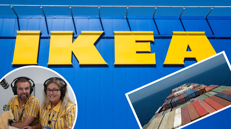 Pictured: Ikea store, Sara and Kent Eriksson and ship carrying Ikea goods. Images: Getty, Ikea