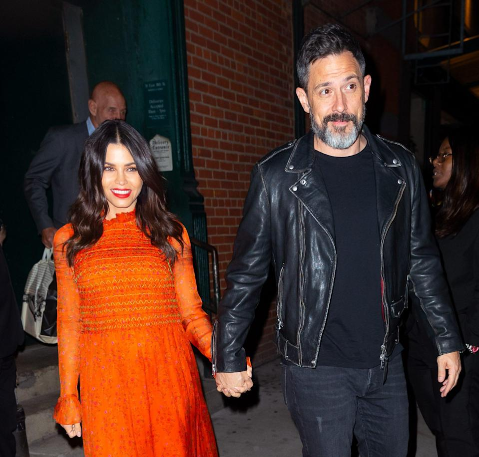 "<p>Back on March 6, Dewan announced that she and Steve Kazee welcomed a child together.</p> <p>""And just like that, our hearts exploded into all of eternity and beyond. Welcome to the world you little angel! Callum Michael Rebel Kazee 3/6/20,"" she posted on <a href=""https://www.instagram.com/p/B9kCy4iBwBX/"" rel=""nofollow noopener"" target=""_blank"" data-ylk=""slk:Instagram"" class=""link rapid-noclick-resp"">Instagram</a>.</p>"