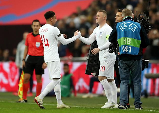 Rooney enters proceedings in the 58th minute (Nick Potts/PA)