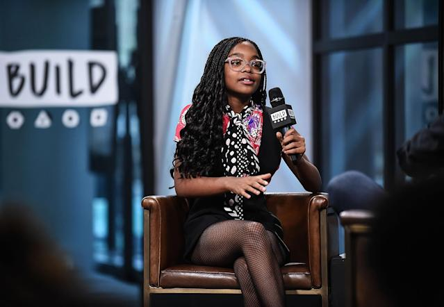 Marsai Martin discusses the show <i>Black-ish</i> during her Build appearance in New York City, on Nov. 16, 2017. (Photo: Daniel Zuchnik/Getty Images)