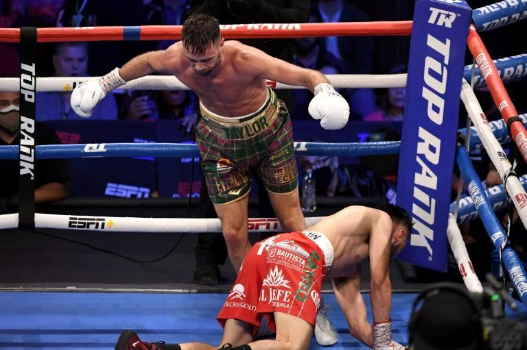 Taylor floored Ramirez in back-to-back rounds in the middle of the fight