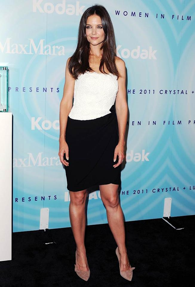 """Katie Holmes attended the Women In Film's 2011 Crystal + Lucy Awards at The Beverly Hilton hotel on Thursday night, which honors women's achievements in film and television. Mrs. Tom Cruise was presented with the MaxMara Face of the Future award. Jon Kopaloff/<a href=""""http://www.filmmagic.com/"""" target=""""new"""">FilmMagic.com</a> - June 16, 2011"""