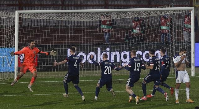 Goalkeeper  David Marshall was the hero with his crucial penalty save to book Scotland a place at Euro 2020