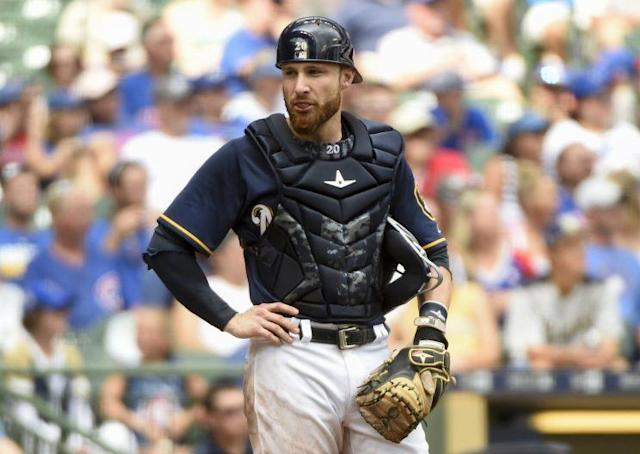 The Texas Rangers acquired catcher Jonathan Lucroy on Monday. (AP)