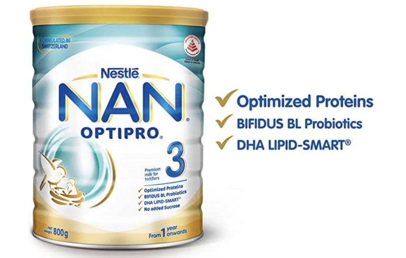 Nestlé NAN OPTIPRO Stage 3 Toddler Milk Formula. (PHOTO: Amazon)