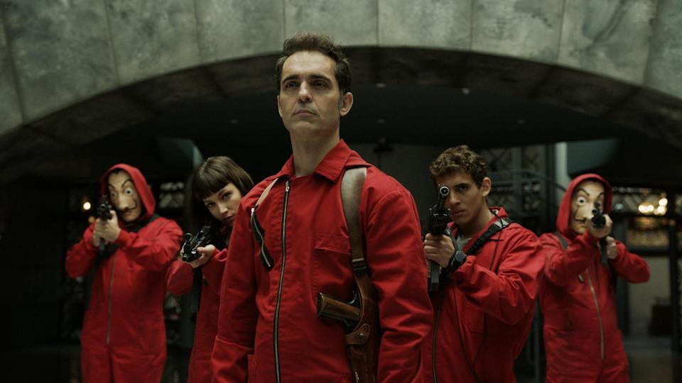 "<p>If you're into the heist genre, you need to give Spanish thriller series <strong>Money Heist</strong> (<strong>Casa de Papel</strong>) a try. Centering on the biggest armed robbery imaginable <span class=""aCOpRe"">- involving printing billions of euros in the Royal Mint of Spain - we can't help but compare the series's Professor to <strong>Lupin</strong>'s Assane Diop. Both are absolutely cunning and ingenious gentleman thieves, with much more in mind than just some breaking and entering. If you loved <strong>Lupin</strong>'s scenes at The Louvre as Diop and co. strategize the theft of the necklace, and even the kidnapping of Dumont, you'll love this tale of getting rich at the expense of everything (with some added revenge and social class critique, too).</span></p> <p> <a href=""http://www.netflix.com/title/80192098"" class=""link rapid-noclick-resp"" rel=""nofollow noopener"" target=""_blank"" data-ylk=""slk:Watch Money Heist on Netflix."">Watch <strong>Money Heist</strong> on Netflix.</a></p>"