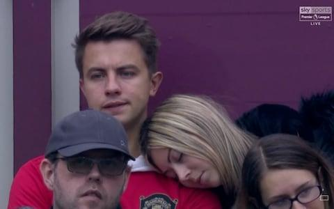 Manchester United fan sleeps at game against West Ham