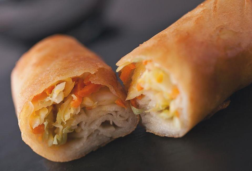 <p>Located at a tiny cart in Adventureland next to Pirates of the Caribbean ride, the House-Made Spring Rolls are necessary snacking. Next time you're in Magic Kingdom, check it out. </p>
