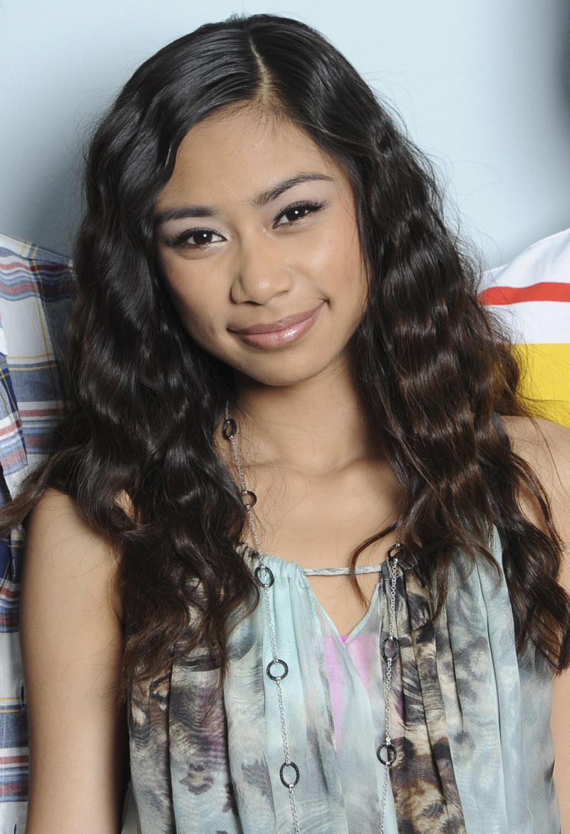 "FILE - In this May 10, 2012 file photo released by Fox, Jessica Sanchez poses in Los Angeles. The ""American Idol"" winner will be announced May 23, 2012. (AP Photo/Fox, Michael Becker, File)"