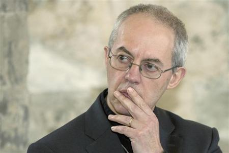 Archbishop of Canterbury Justin Welby speaks during a news conference at Lambeth Palace in London