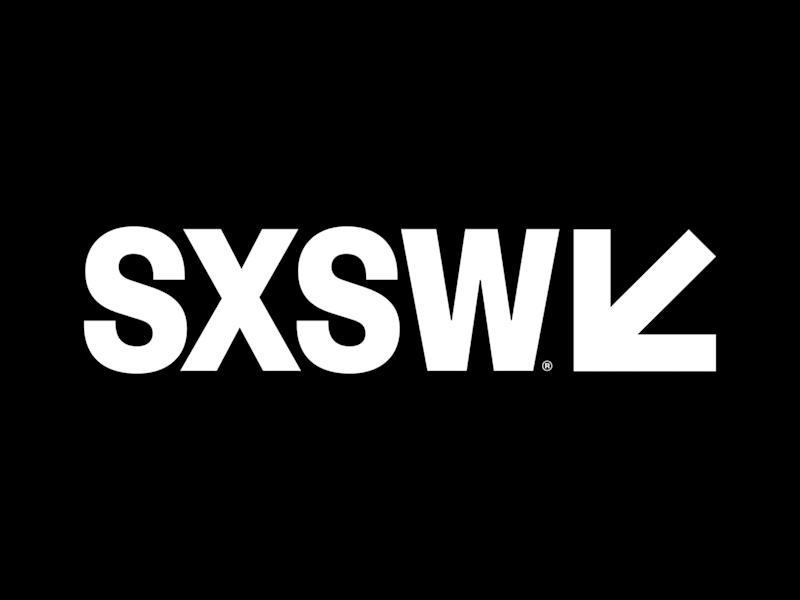 2020 SXSW Conference & Festivals logo, graphic element on black