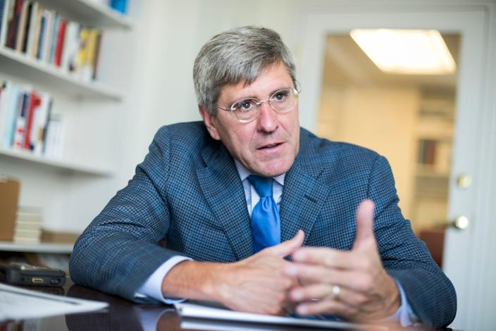 Stephen Moore of The Heritage Foundation on August 31, 2016, in Washington, D.C.
