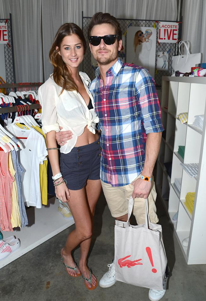 THERMAL, CA - APRIL 15:  Musician Jared Followill (R) and guest attends day 2 of LACOSTE L!VE hosts a desert pool party in celebration of Coachella on April 15, 2012 in Thermal, California.  (Photo by Chris Weeks/WireImage)