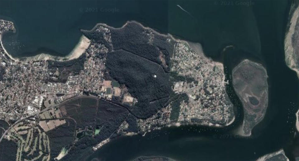 The four-year-old died in a kayaking incident in Port Stephens on Tuesday afternoon. Source: Google Earth