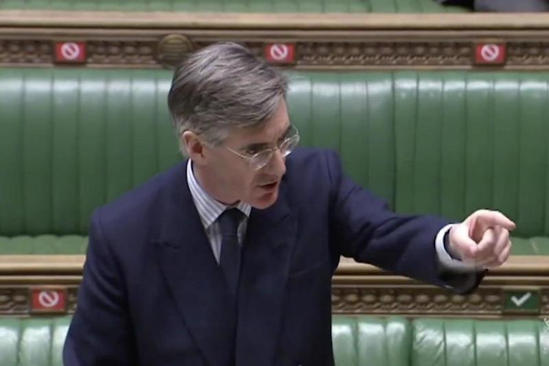 Jacob Rees Mogg called on MPs to return to the chamber (Parliament TV)
