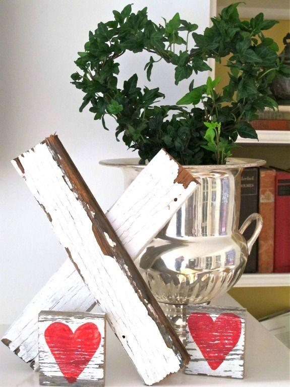 """<p>This blogger transformed old, chipped siding into rustic Valentine's Day decor fit for a farmhouse.</p><p><strong>Get the tutorial at <a href=""""http://mysoulfulhome.com/make-thisa-valentine-kiss/"""" rel=""""nofollow noopener"""" target=""""_blank"""" data-ylk=""""slk:My Soulful Home"""" class=""""link rapid-noclick-resp"""">My Soulful Home</a>.</strong></p><p><strong><a class=""""link rapid-noclick-resp"""" href=""""https://www.amazon.com/dp/B000FPVA4A/ref=dp_cerb_1?tag=syn-yahoo-20&ascsubtag=%5Bartid%7C10050.g.2971%5Bsrc%7Cyahoo-us"""" rel=""""nofollow noopener"""" target=""""_blank"""" data-ylk=""""slk:SHOP HEART STENCILS"""">SHOP HEART STENCILS</a><br></strong></p>"""
