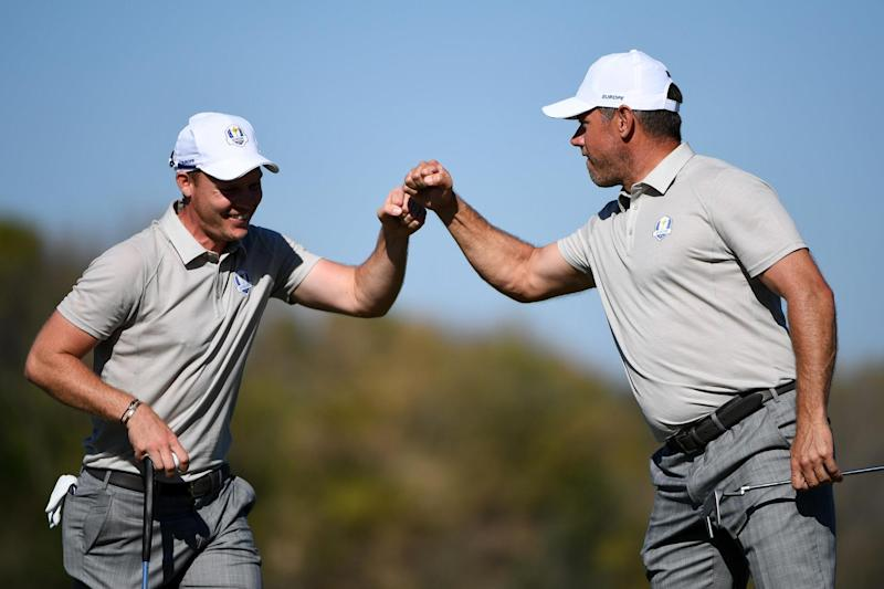 Pair | Danny Willett and Lee Westwood played as a pair in the fourballs in 2016: Getty Images