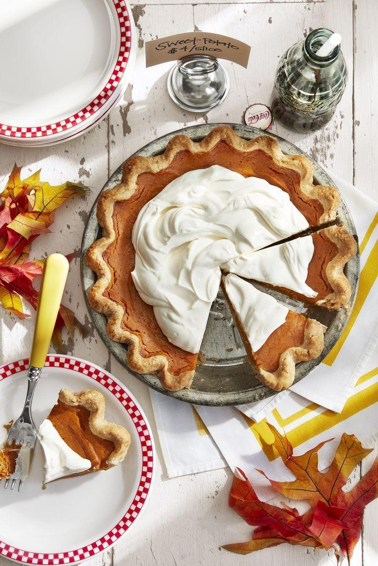 """<p>A ginger-spiced cream makes this <a href=""""https://www.countryliving.com/food-drinks/g1368/thanksgiving-pies/"""" rel=""""nofollow noopener"""" target=""""_blank"""" data-ylk=""""slk:Thanksgiving pie"""" class=""""link rapid-noclick-resp"""">Thanksgiving pie</a> unforgettable.</p><p><strong><a href=""""https://www.countryliving.com/food-drinks/a24279831/gingery-sweet-potato-pie-recipe/"""" rel=""""nofollow noopener"""" target=""""_blank"""" data-ylk=""""slk:Get the recipe"""" class=""""link rapid-noclick-resp"""">Get the recipe</a>.</strong></p><p><strong><a class=""""link rapid-noclick-resp"""" href=""""https://www.lodgecastiron.com/product/seasoned-cast-iron-pie-pan?sku=BW9PIE"""" rel=""""nofollow noopener"""" target=""""_blank"""" data-ylk=""""slk:SHOP CAST IRON PIE PANS"""">SHOP CAST IRON PIE PANS</a><br></strong></p>"""