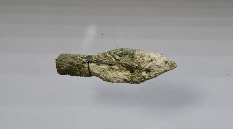 One of the arrowheads found at the site (UNC)