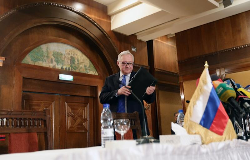 Russian Deputy Foreign Minister Sergei Ryabkov accused the US of trying to meddle in Russia's internal affairs ahead of a presidential election next month