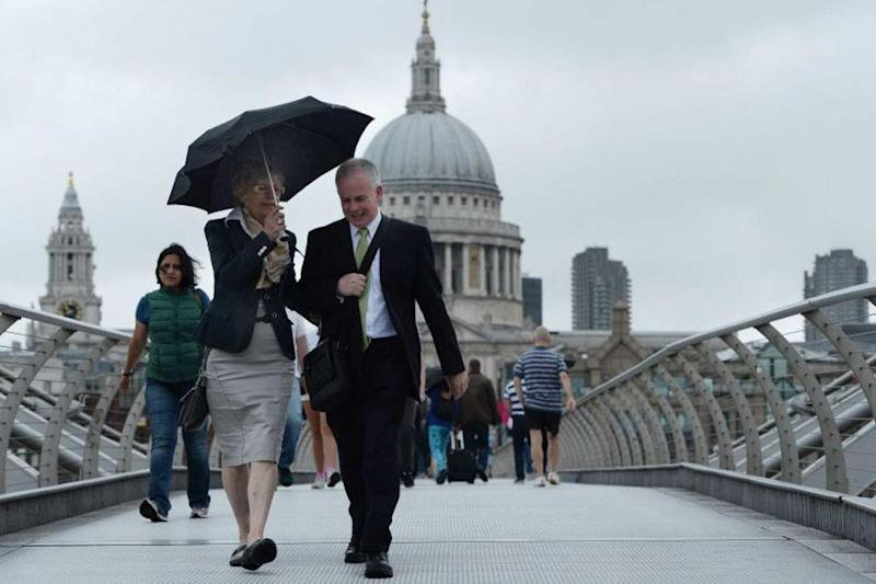 Rain: London is set to be hit with more cloudy and wet weather (Picture: PA) (PA)