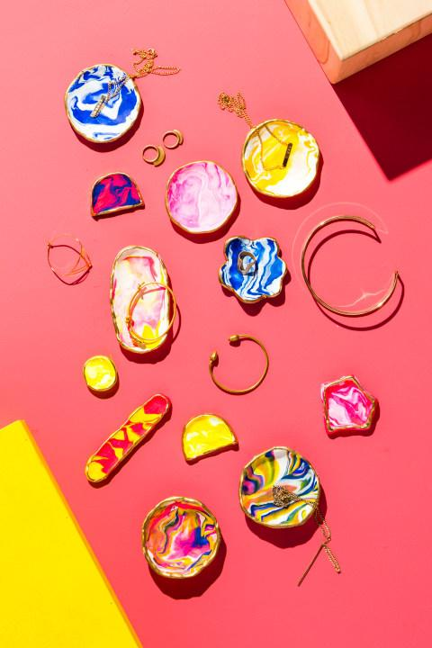 Thisjewelry dish kit is a high-design, grown-up versionof what you made back in art class. (Target, $19.99)
