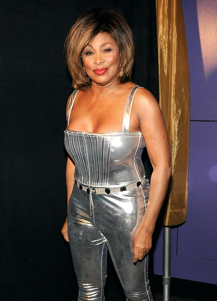(EXCLUSIVE, Premium Rates Apply) LOS ANGELES, CA - FEBRUARY 10:  Singer Tina Turner at the 50th Annual GRAMMY Awards at the Staples Center on February 10, 2008 in Los Angeles, California. **EXCLUSIVE**  (Photo by Kevin Mazur/WireImage)