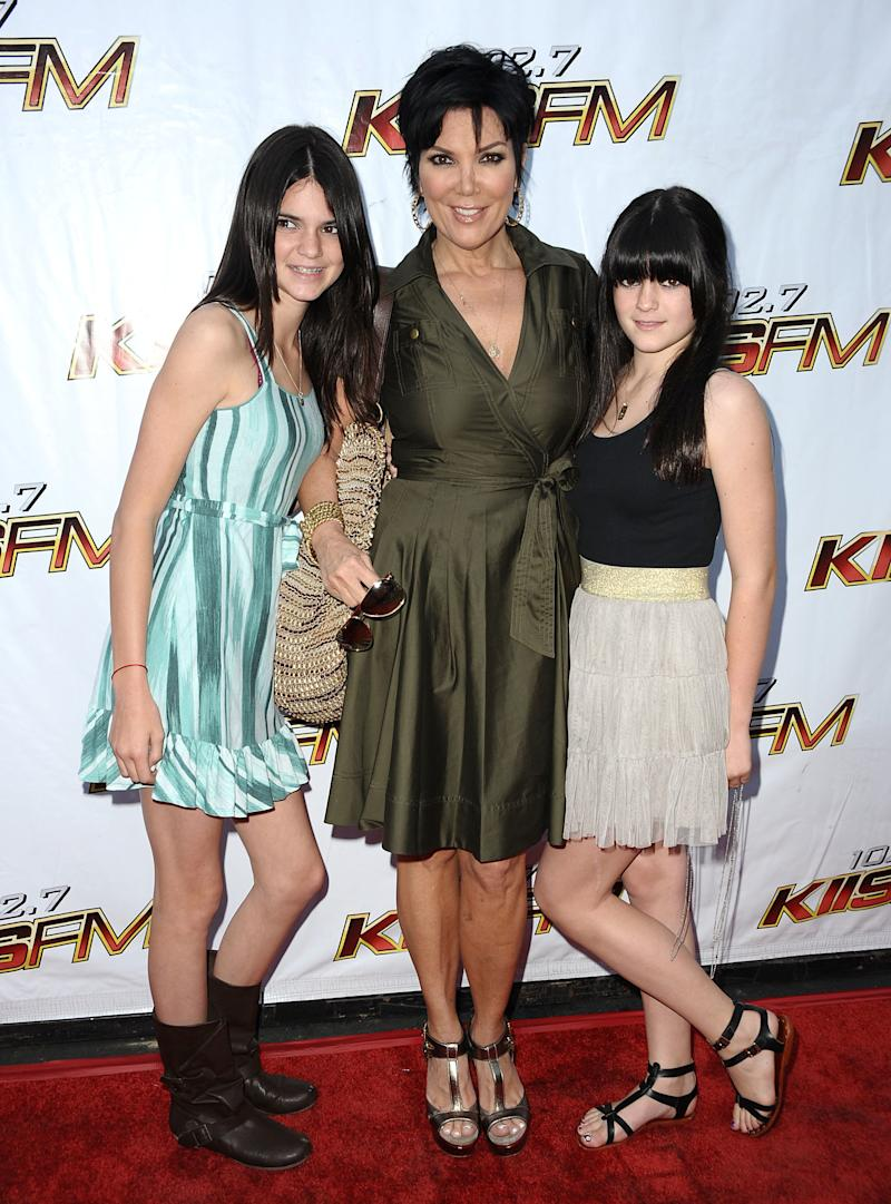 Kendall, Kris, and Kylie Jenner at the 102.7 KIIS-FM's Wango Tango in Irvine, California, May 2009.