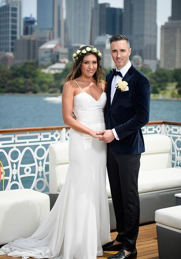 Nadia and Anthony on their wedding day. Source: Nine Network