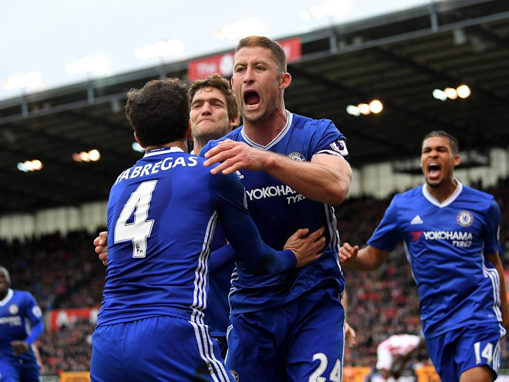 Chelsea's captain won them the match against a dogged Stoke: Getty