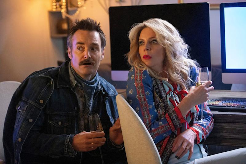 """Will Forte and Kaitlin Olson in """"Flipped"""" (Photo: Patrick McElhenney/Quibi)"""