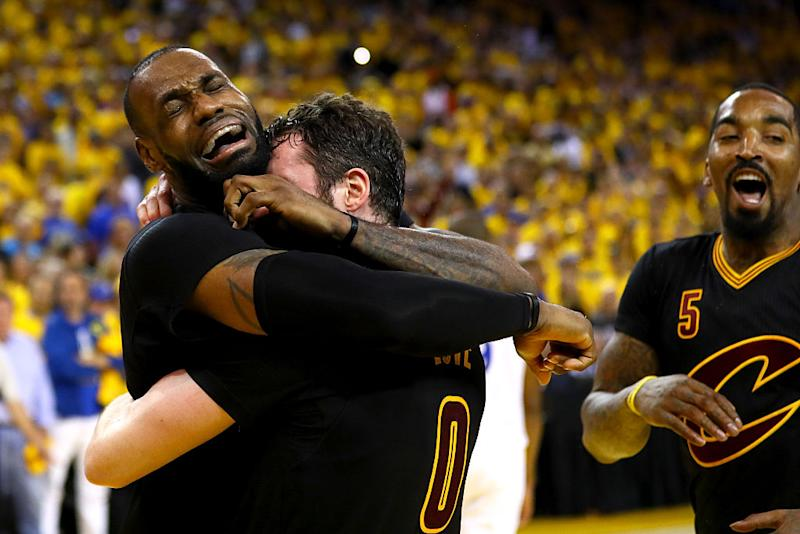 710e5e1e2dc4 LeBron James cried after winning the NBA championship and the internet  can t stop meme-ing it