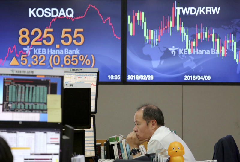 Stocks mixed on US-China dispute; oil pushed up by hurricane