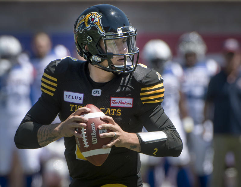 Hamilton Tiger-Cats quarterback Johnny Manziel's coach says he has been a good teammate. (AP)